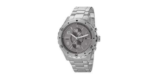 Pánske strieborno tónované analogové hodinky z nerez ocele Esprit