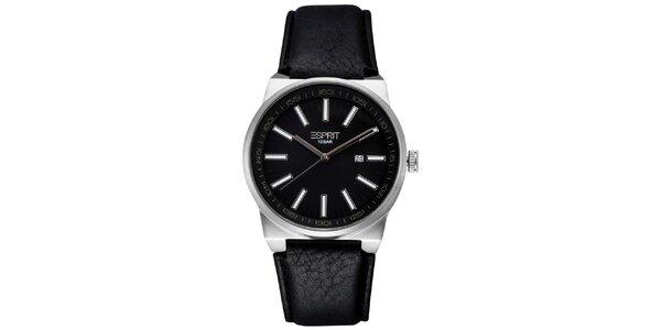 Pánske oceľové hodinky s čiernym ciferníkom Esprit