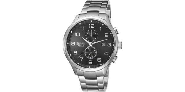 Pánske strieborné hodinky Esprit s chronografom
