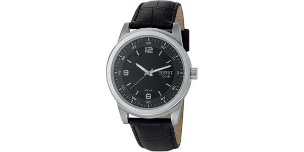 Pánske oceľové hodinky s koženým remienkom Esprit