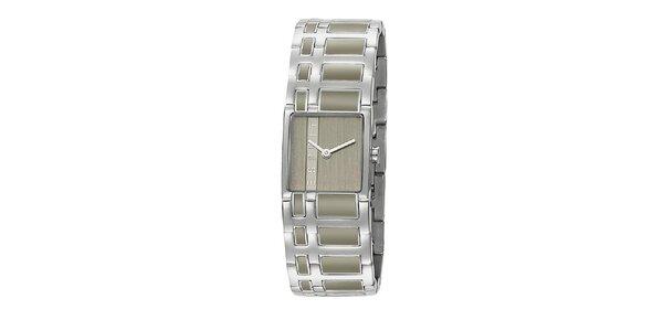 Dámske strieborné hodinky Esprit s šedým vykladaním