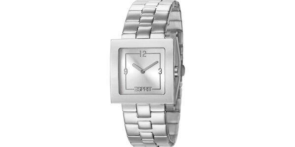 Dámske hodinky Esprit s hranatým ciferníkom v striebornej farbe