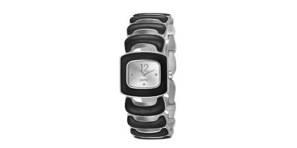 Dámske čierno-strieborné hodinky Esprit