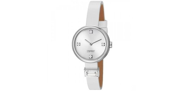 Dámske biele minimalistické hodinky Esprit