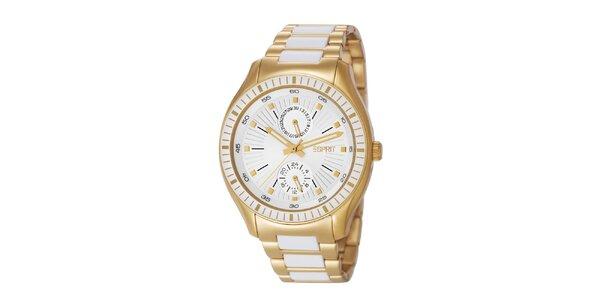 Dámske zlaté hodinky s minutovým ciferníkom Esprit