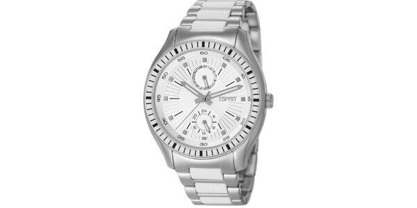 Dámske strieborné hodinky s minutovým ciferníkom Esprit