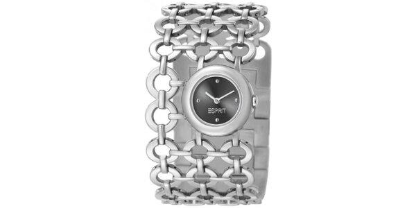 Dámske strieborné hodinky Esprit s krúžkovým náramkom
