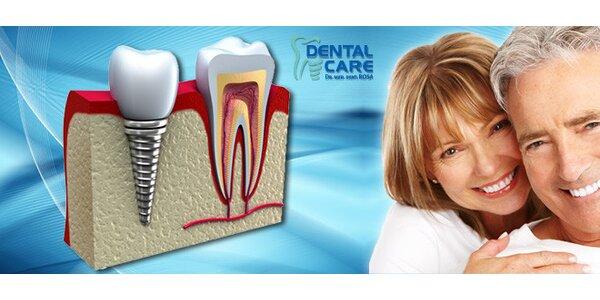 Zľava na zubný implantát s korunkou
