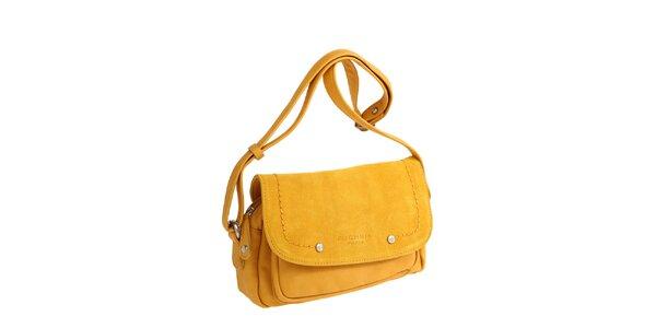 Dámska žltá kabelka cez rameno Fuchsia