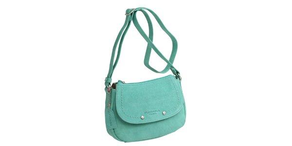 Dámska zelená kabelka cez rameno Fuchsia