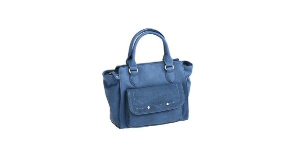 Dámska modrá kabelka s bočným vreckom Fuchsia