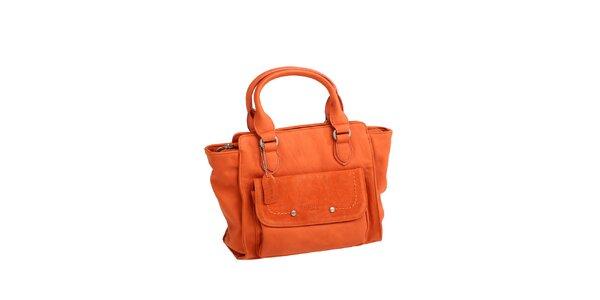 Dámska oranžová kabelka s bočným vreckom Fuchsia