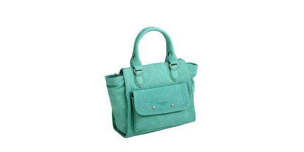 Dámska zelená kabelka s bočným vreckom Fuchsia