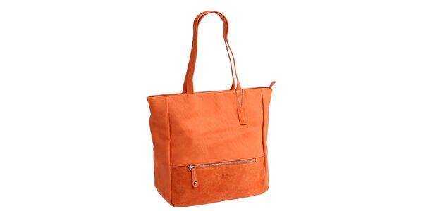 Dámska oranžová kabelka s dvomi ušami Fuchsia
