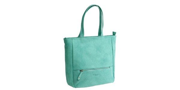 Dámska zelená kabelka s dvomi ušami Fuchsia