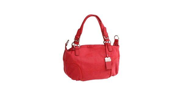 Dámska červená kožená kabelka Fuchsia