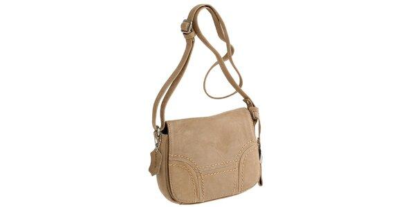 Dámska béžová kabelka cez rameno Fuchsia