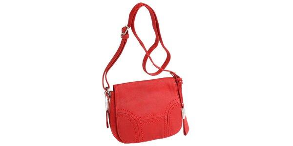 Dámska červená kabelka cez rameno Fuchsia
