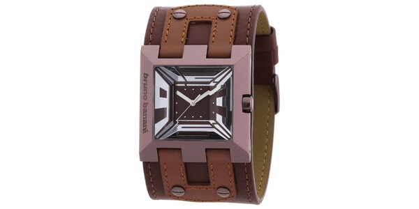 Dámske hnedé náramkové hodinky Bruno Banani