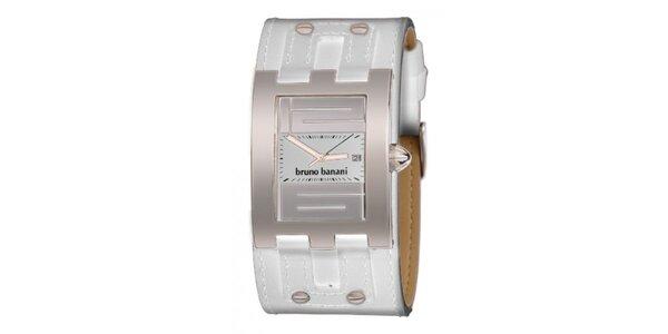 Dámske biele náramkové hodinky s cvočkami Bruno Banani