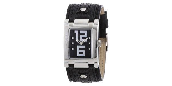 Dámske strieborné hodinky s čiernym ciferníkom Bruno Banani