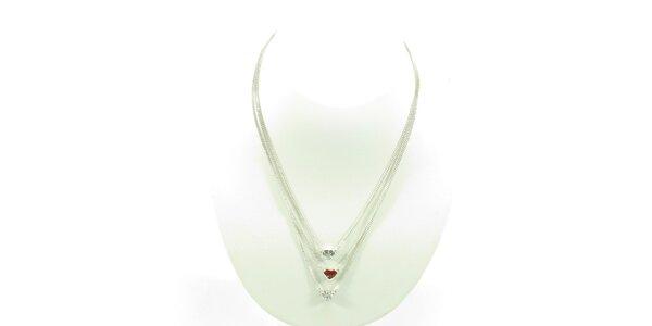Dámsky náhrdelník Guess so srdiečkami