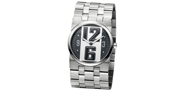 Pánske oceľovo šedé hodinky Bruno Banani