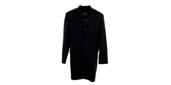 Pánsky dlhý čierny kabát Pietro Filipi