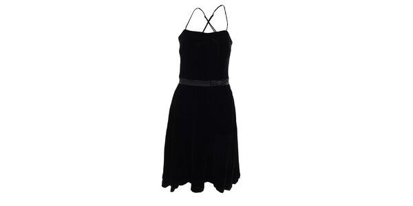 Dámske čierne koktejlové šaty Pietro Filipi