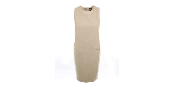 Dámske béžové púzdrové šaty Pietro Filipi