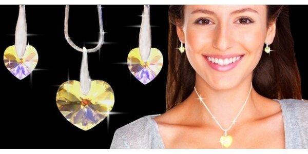19,90 eur za kolekciu šperkov s pravými Swarovski Elements Crystal