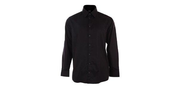 Pánska čierna obleková košeľa Pietro Filipi