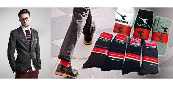 Ponožky Pierre Cardin, CAT a Diadora