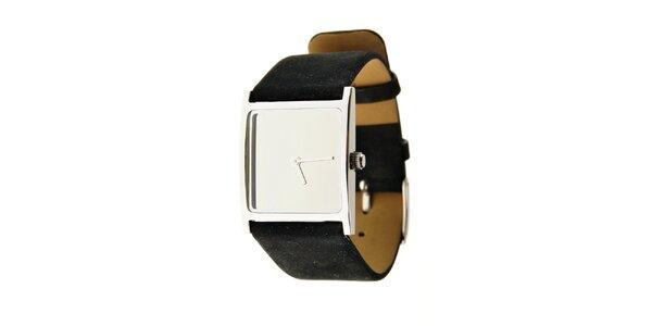 Dámske ocelové hodinky Danish Design s čiernym koženým remienkom