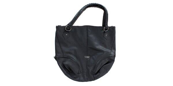 Dámska veľká čierna oválna kabelka Levis