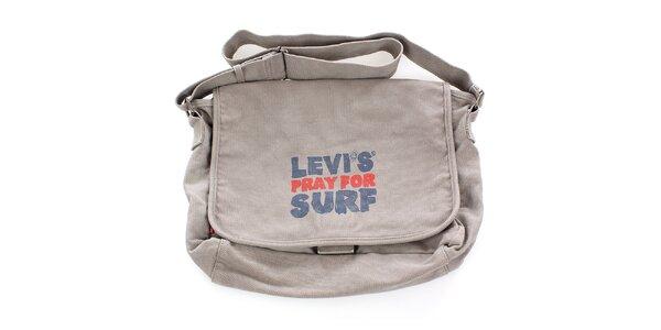 Béžová surferská taška s potlačou Levis