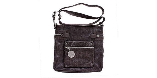 Dámska čierna taška s kovovou visačkou Levis