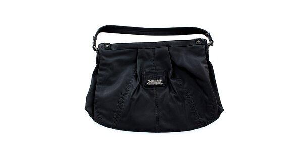 Dámska čierna kabelka Levis s kovovým logom