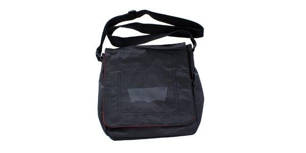 Dámska šedočierna taška cez rameno Levis