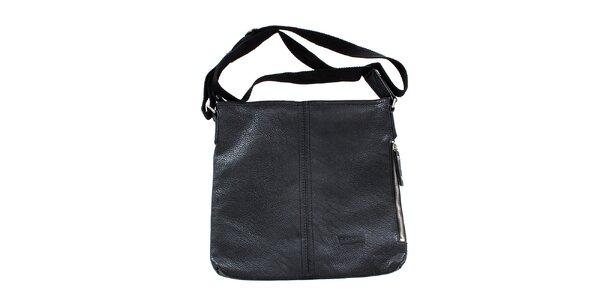 Dámska čierna taška cez rameno Levis s látkovým popruhom