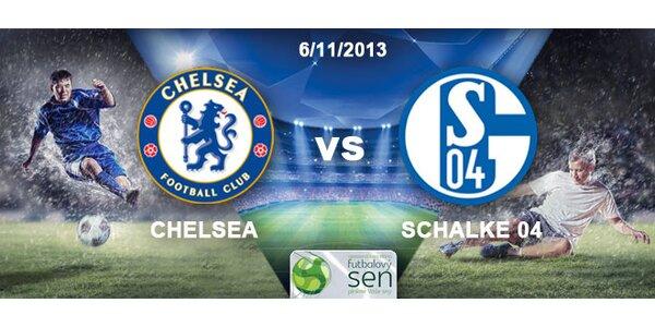 Futbalová Liga Majstrov zápas Chelsea vs. Schalke 04