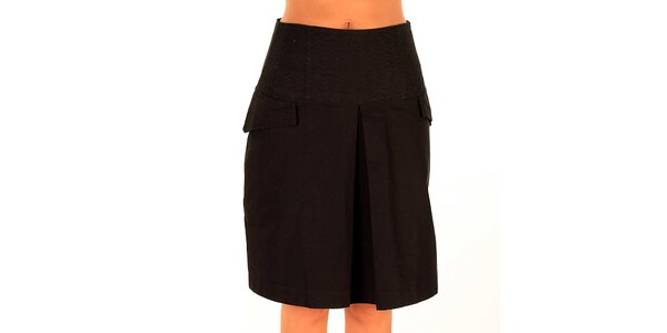 Dámska čierna sukňa s klopami Tonala