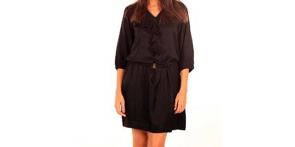 Dámske čierne šaty s výšivkou Tonala