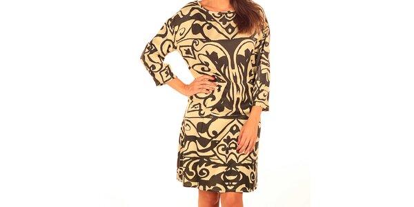 Dámske šaty s abstraktnou potlačou Tonala