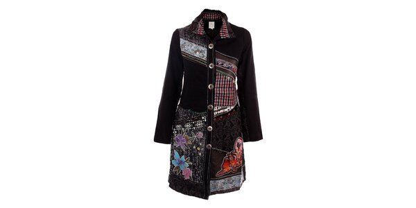 Dámsky pestrý vyšívaný kabát DY Dislay Design