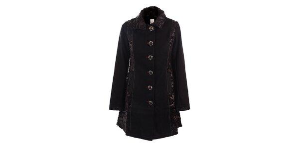 Dámsky čierny jednoradový kabát DY Dislay Design