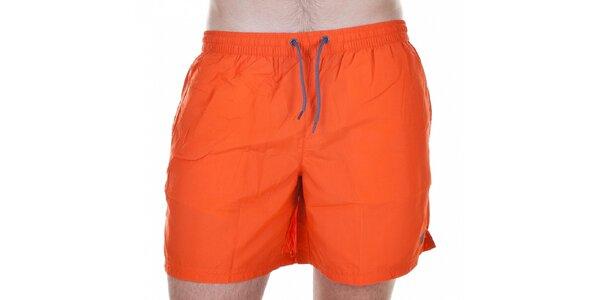 Pánske krátke oranžové kúpacie šortky Emporio Armani