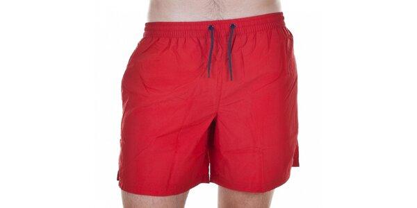 Pánske krátke červené kúpacie šortky Emporio Armani