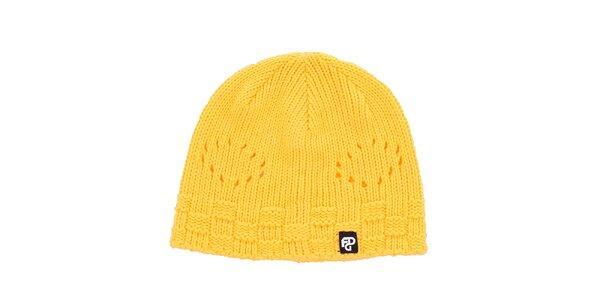 Dámska žltá pletetná čiapka Fundango