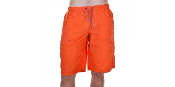 Pánske oranžové kúpacie šortky Emporio Armani
